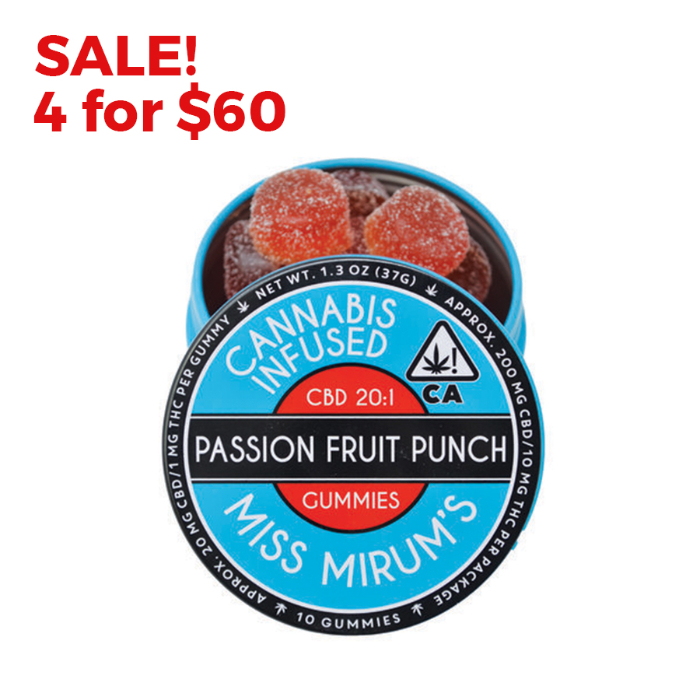Passion Fruit Punch CBD 20:1 Gummies