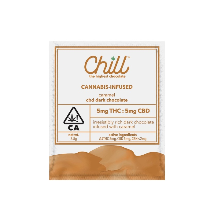 Caramel CBD Dark Chocolate Mini