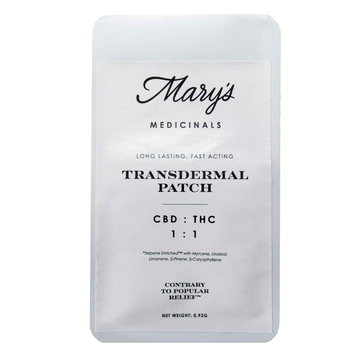 Transdermal 1:1 CBD:THC Patch